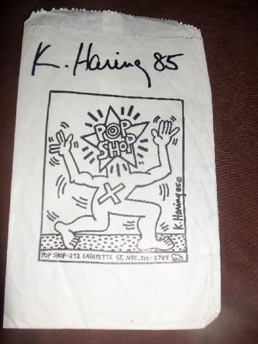 Haring - Original paper bag from the Pop Shop. - 2
