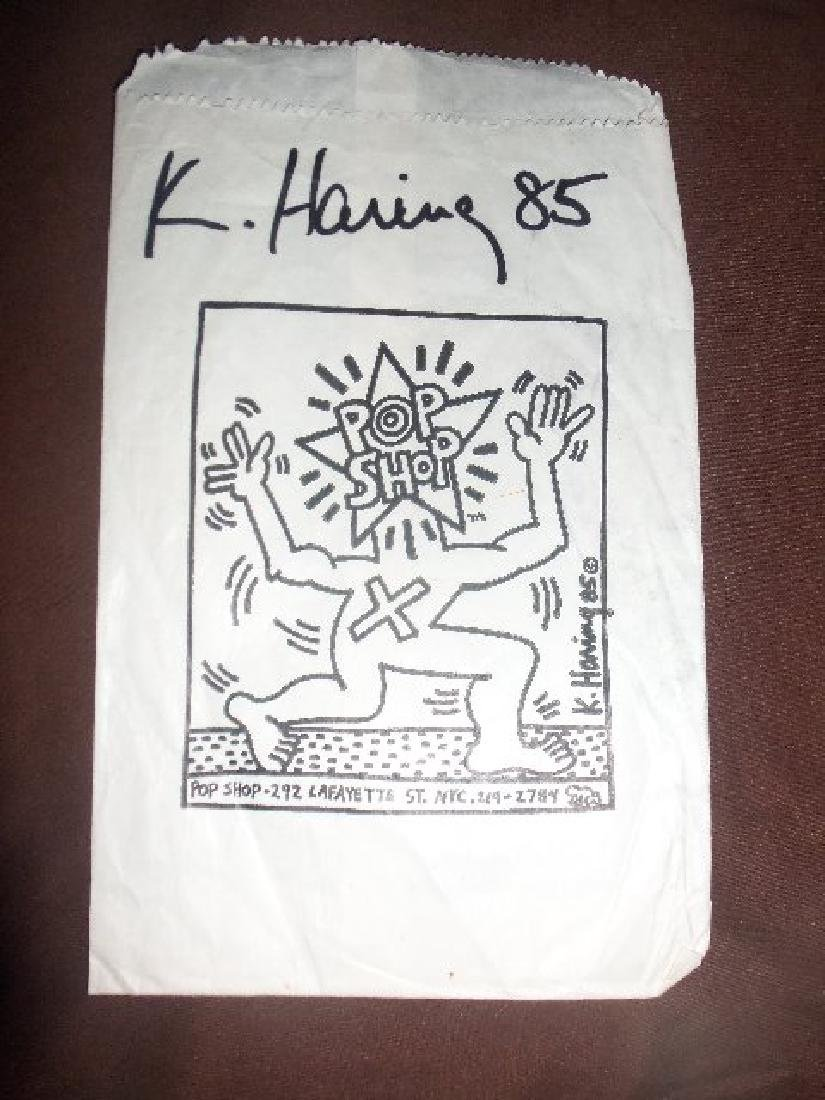 Haring - Original paper bag from the Pop Shop. - 3