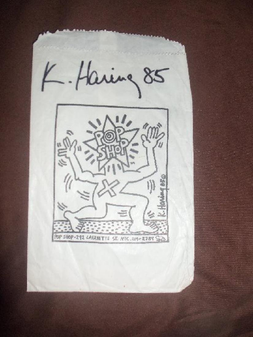 Haring - Original paper bag from the Pop Shop. - 4