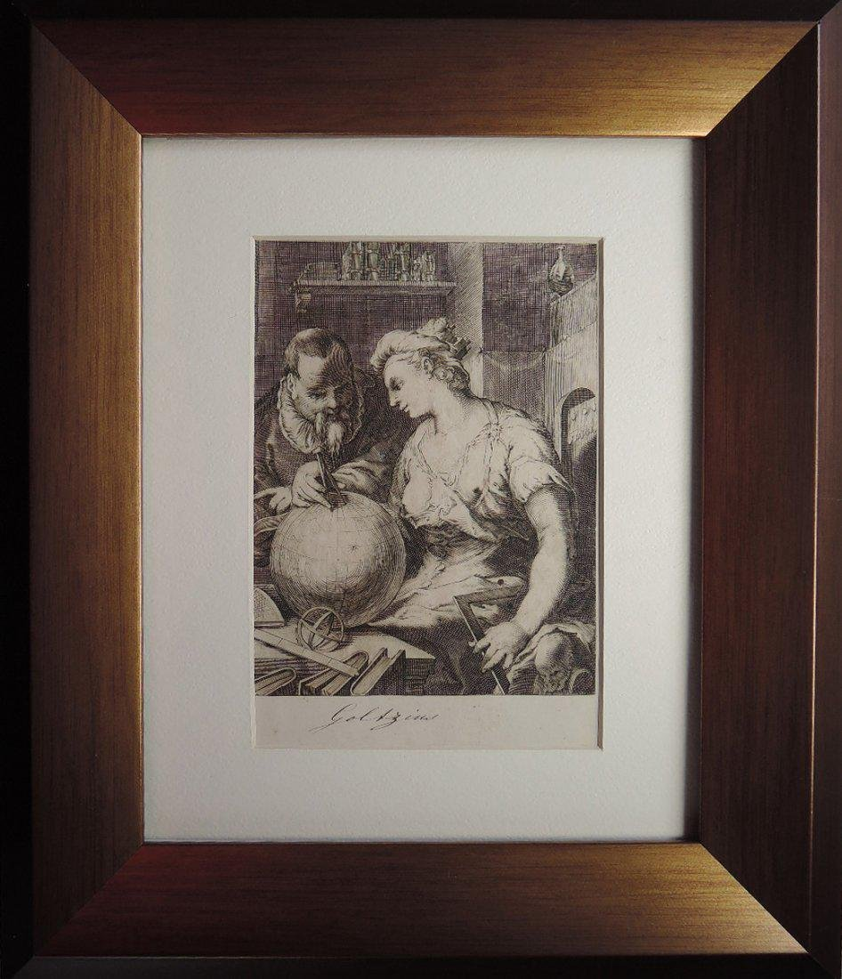 Hendrik Goltzius Engraving (Dutch 1558 - 1617)