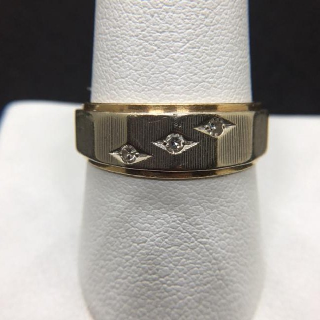 Two-Tone 14k Gold Diamond Ring