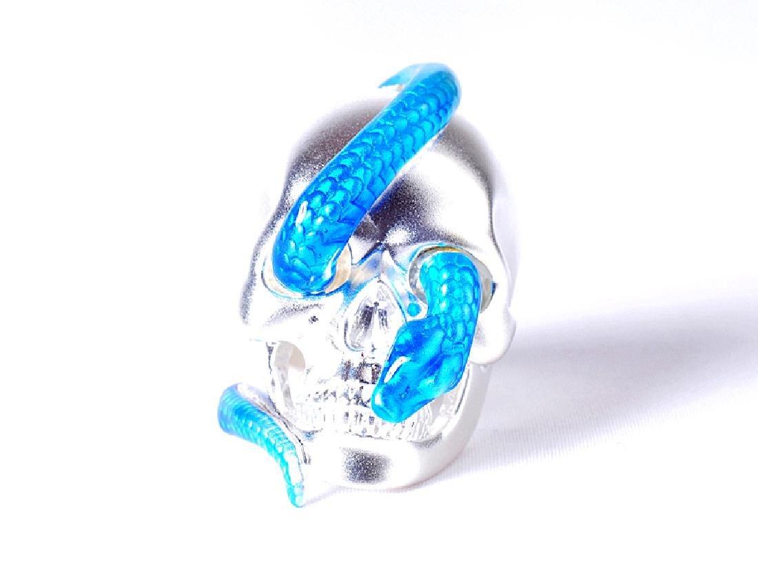 Theo Fennell Alias Sterling Silver Enamel Snake Ring