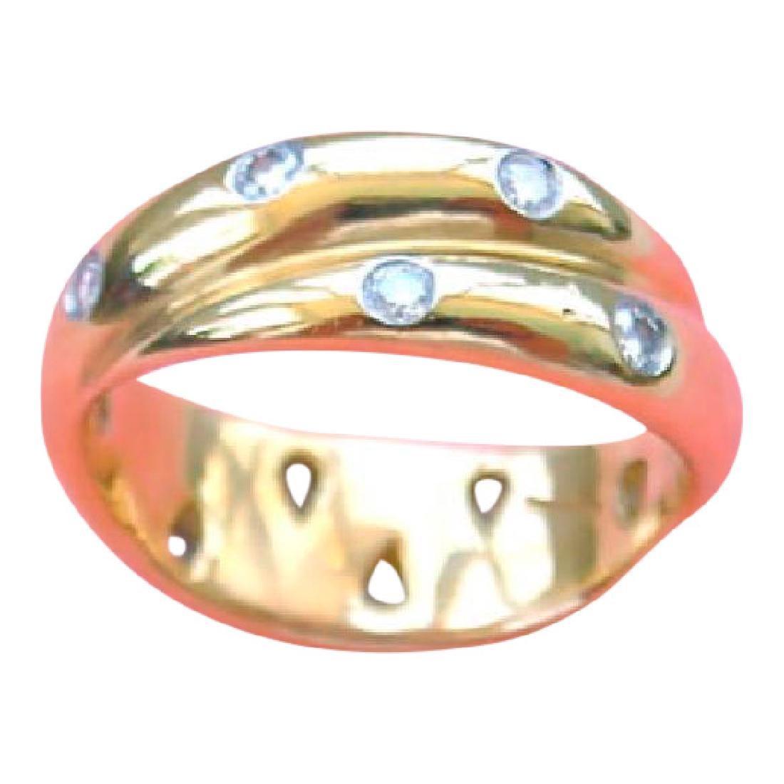 Tiffany Diamond Rolling Interlocking Trinity Band Ring