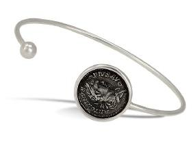 1884 Collection Legacy Sterling Roman Coin Bangle