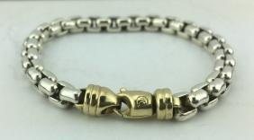 David Yurman Sterling Silver 18K Gold Men's Bracelet