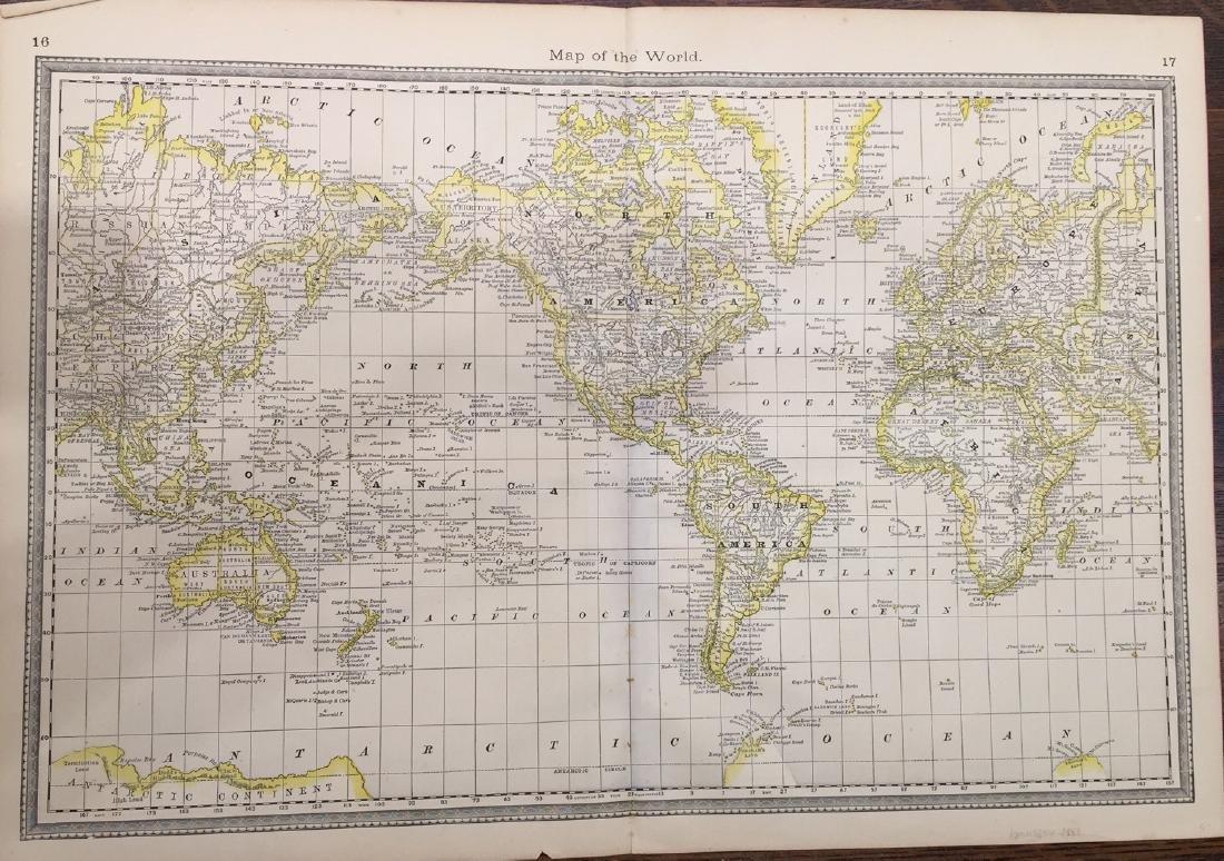 Hardesty's World Map, 1883