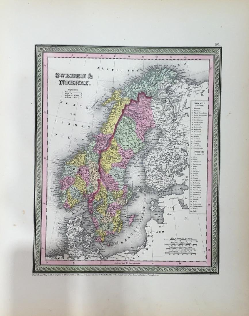 Map of Sweden & Norway