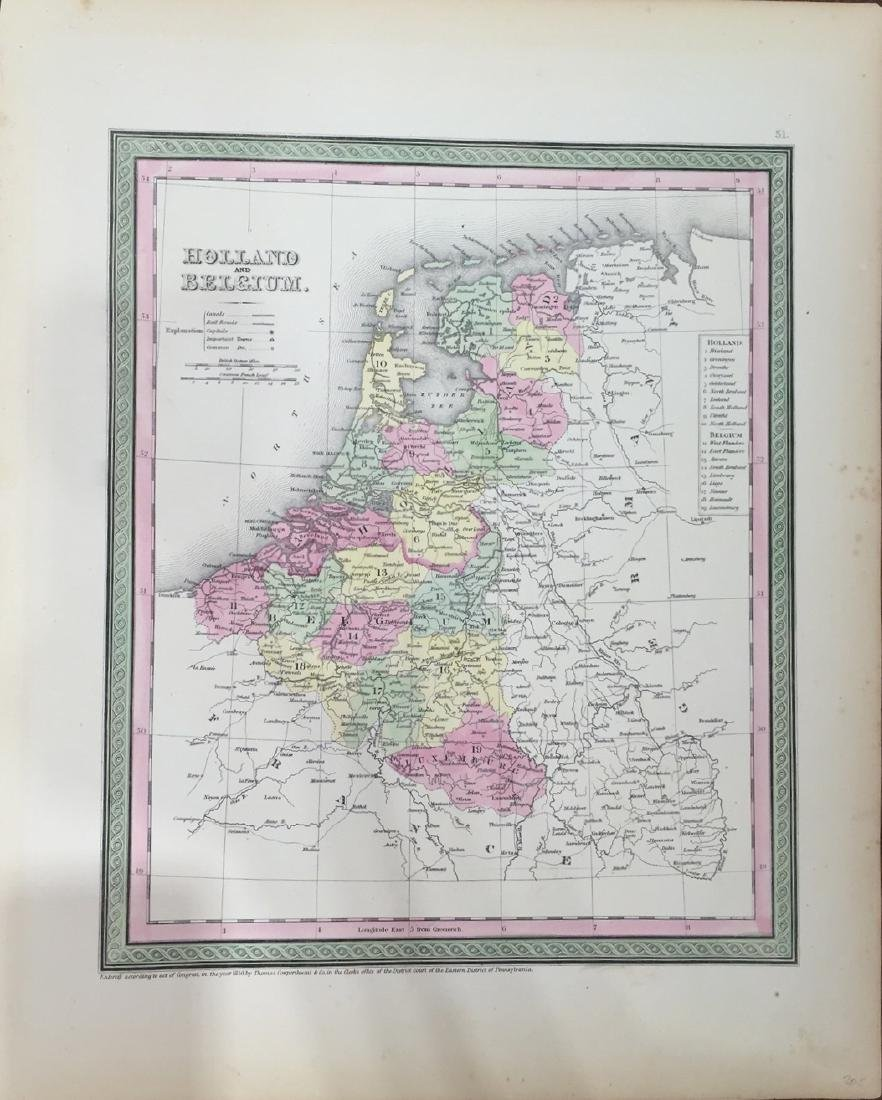 Map of Holland & Belgium