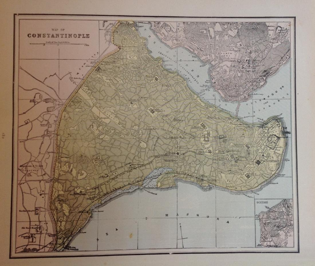 Map of Constantinople