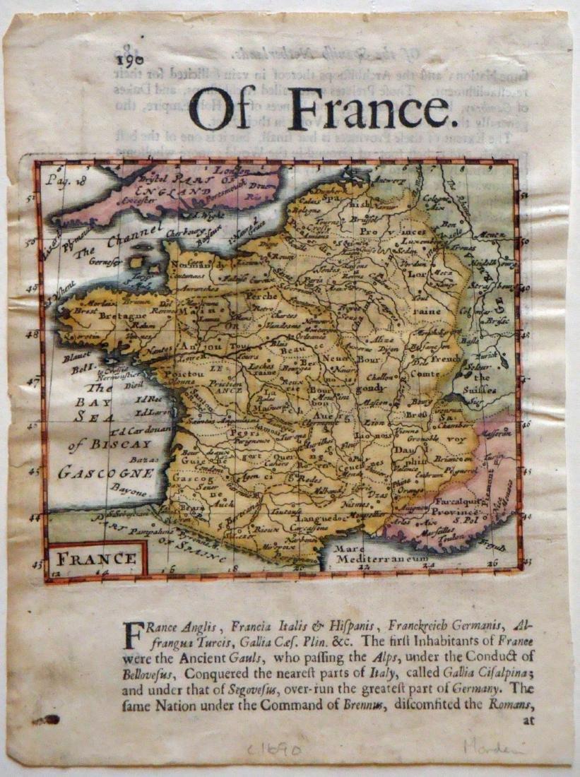 Morden, Map of France, c.1690
