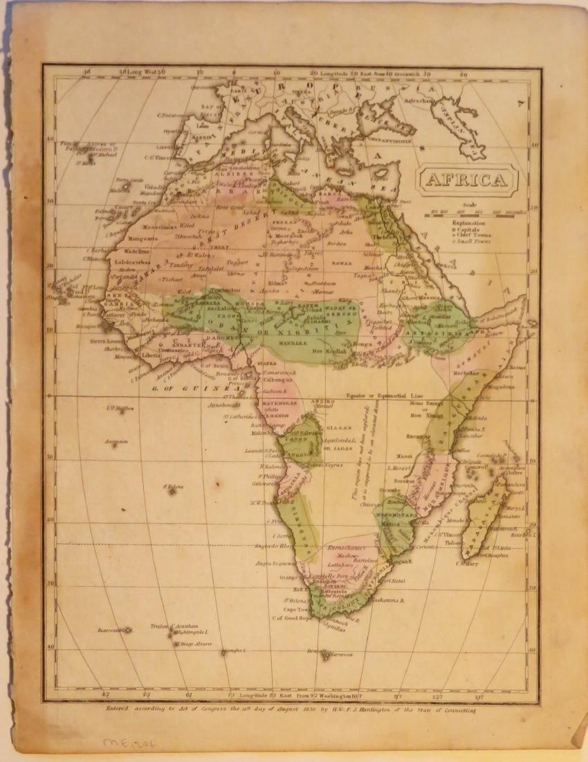 Huntington, Map of Africa, 1833