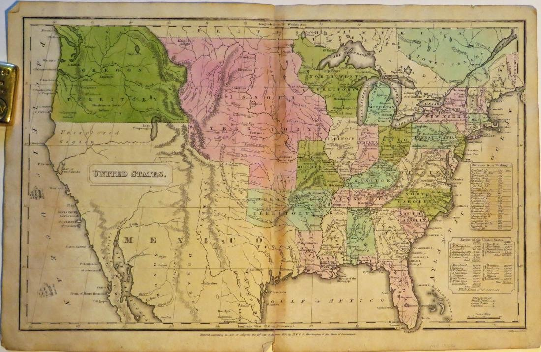 Huntington, Map of United States, 1833