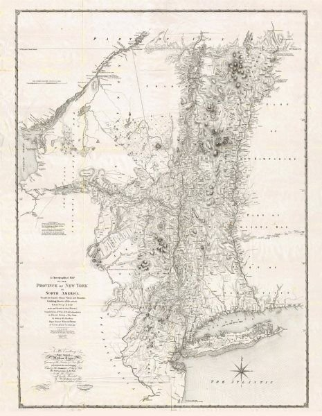 Map of the Province of New York in 1779