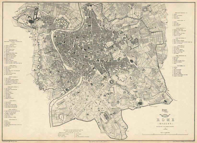 Map of Modern Rome