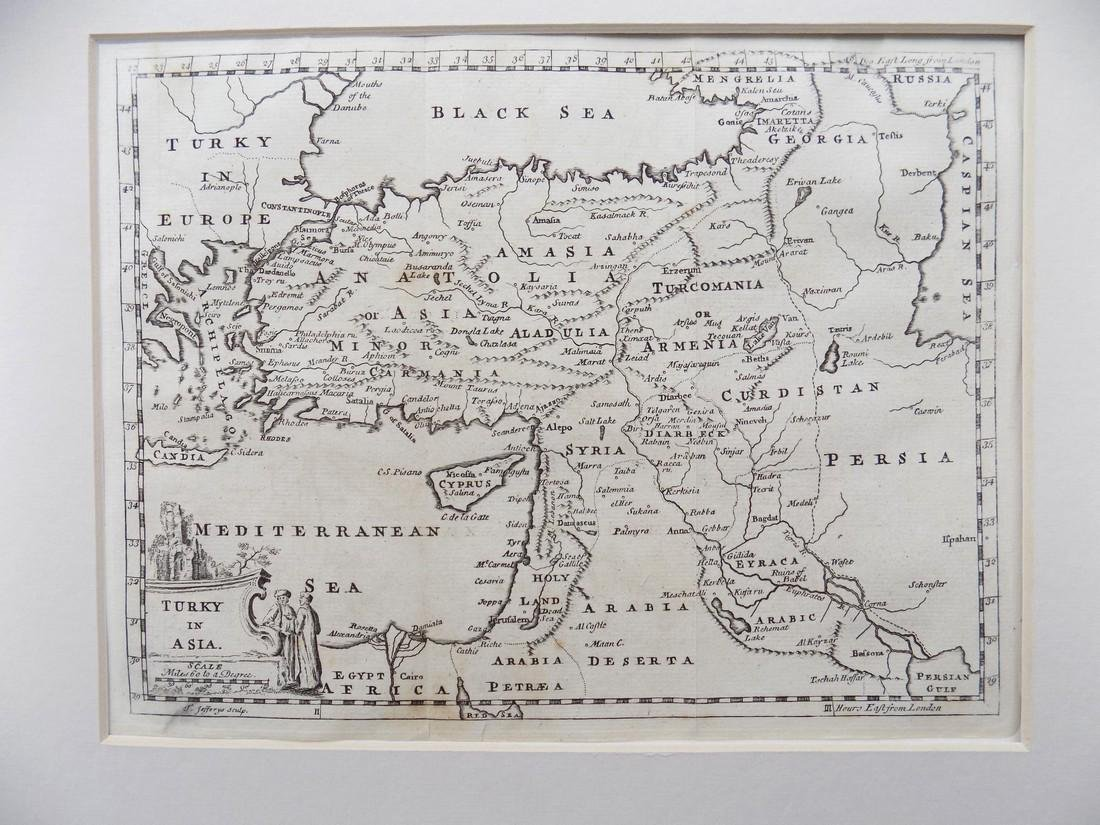 Map of Turkey in Asia, 1769 - 2