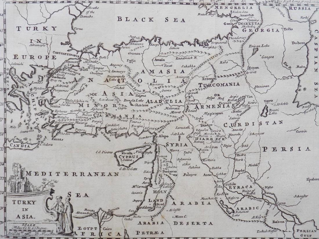 Map of Turkey in Asia, 1769 - 4