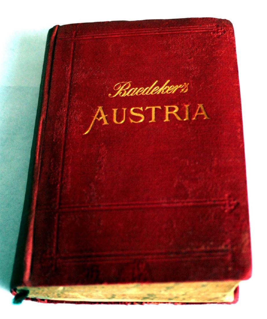 Karl Baedeker Handbook with Maps: Austria. 1896