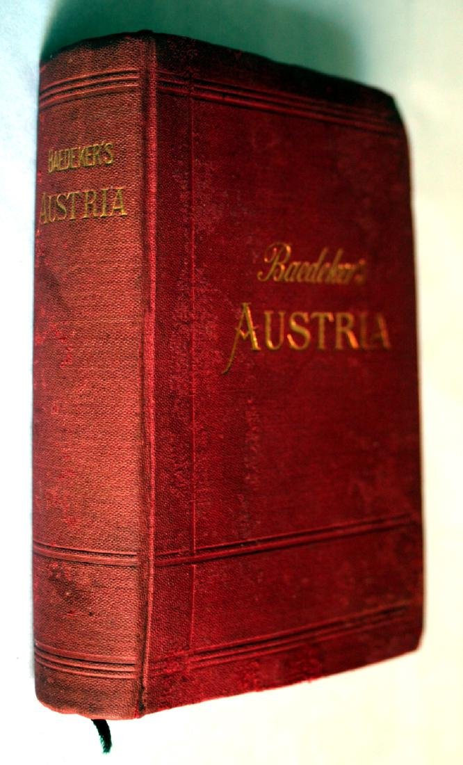 Karl Baedeker Handbook with Maps: Austria. 1896 - 2