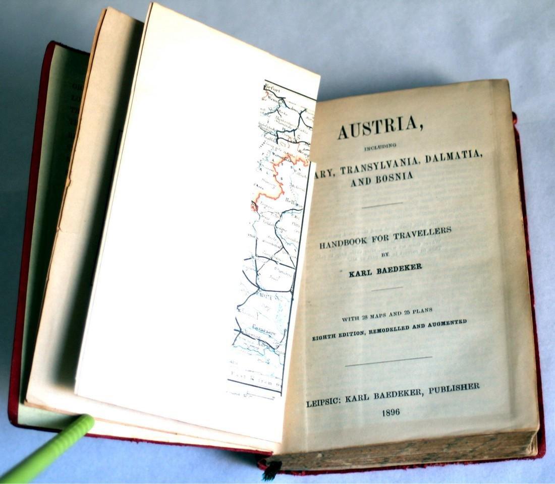 Karl Baedeker Handbook with Maps: Austria. 1896 - 5