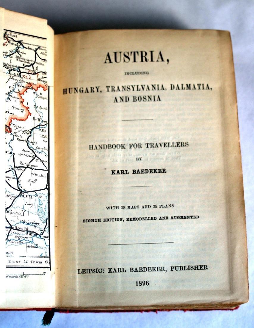 Karl Baedeker Handbook with Maps: Austria. 1896 - 6