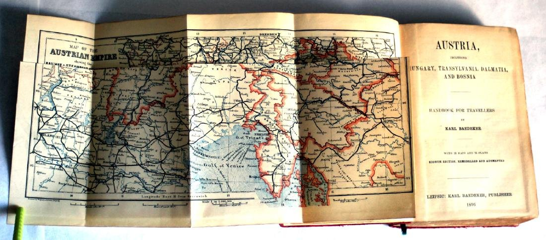 Karl Baedeker Handbook with Maps: Austria. 1896 - 7