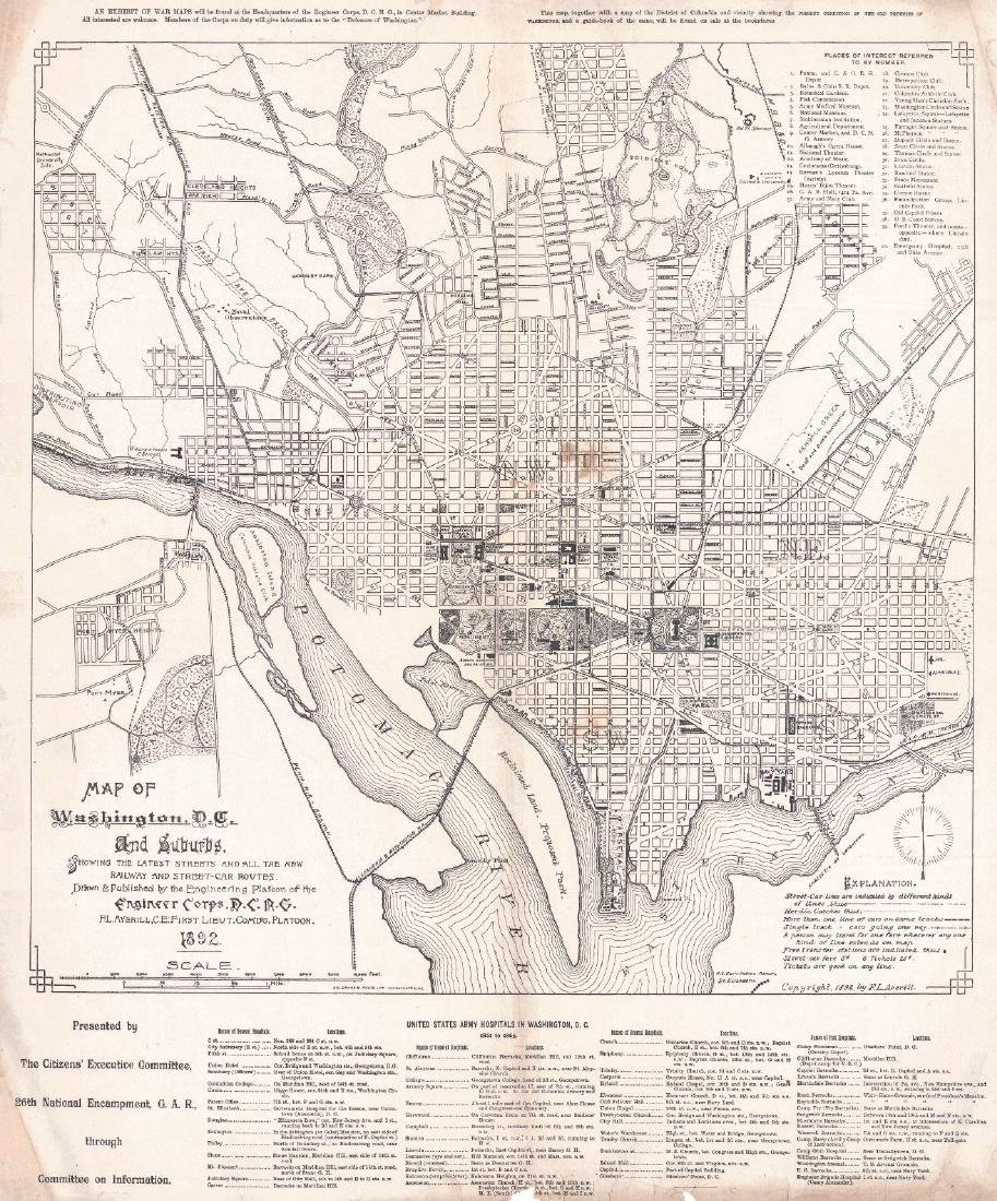Map of Washington, D.C. and Suburbs
