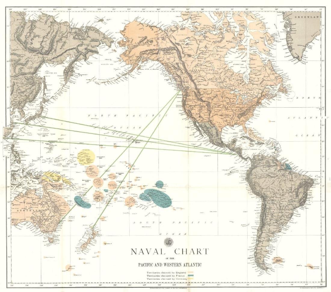 Naval Chart of the Pacific and Western Atlantic