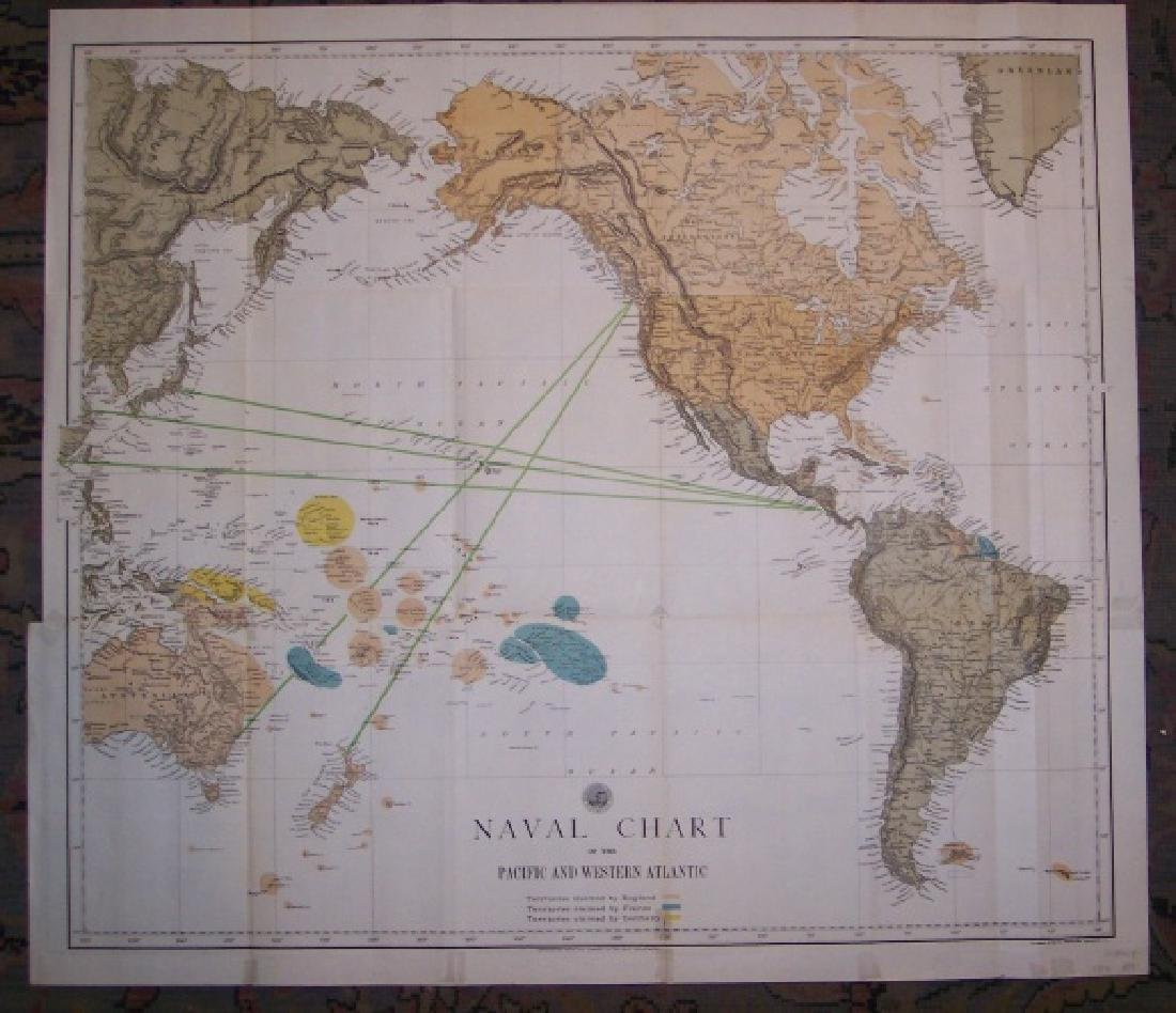 Naval Chart of the Pacific and Western Atlantic - 2