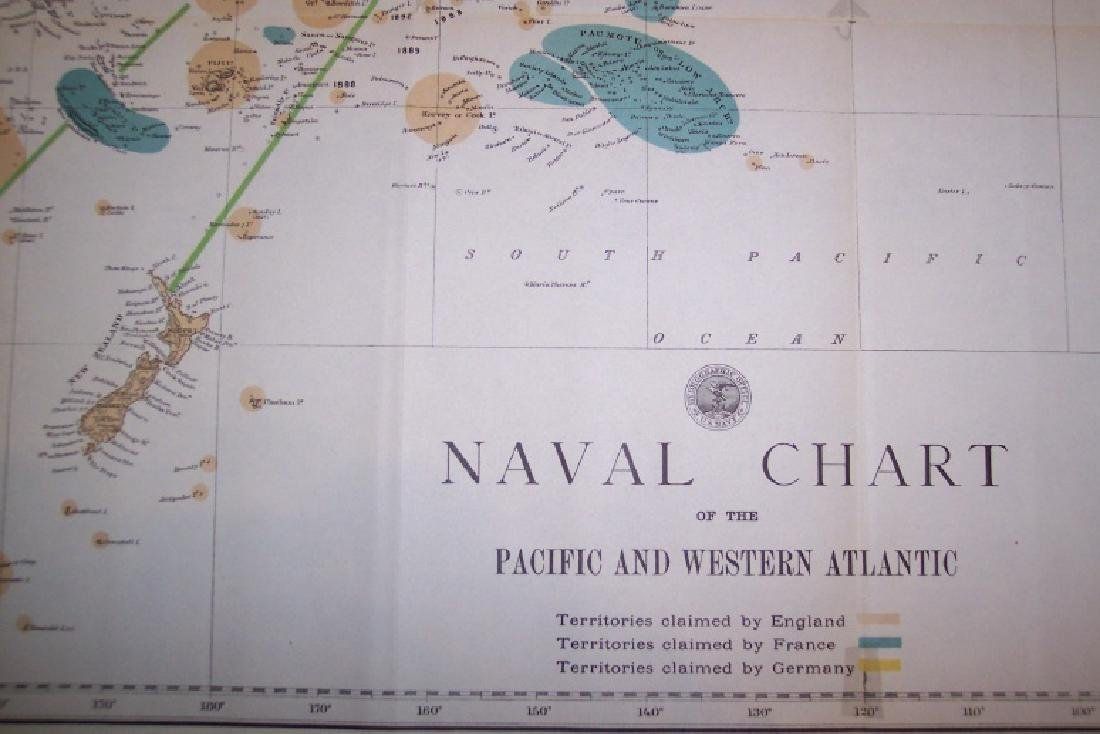 Naval Chart of the Pacific and Western Atlantic - 3