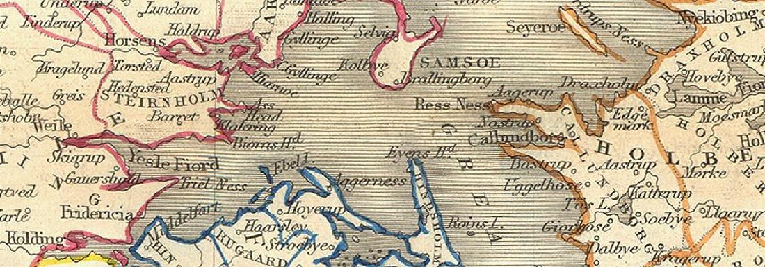 Map of Denmark - 2
