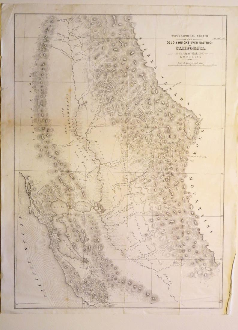 California Gold and Quicksilver District, 1848