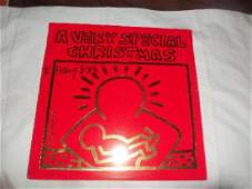 Keith Haring A Very Special Christmas LP.