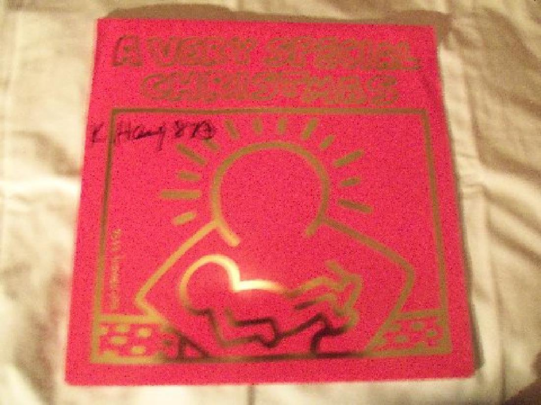 Keith Haring A Very Special Christmas LP. - 5