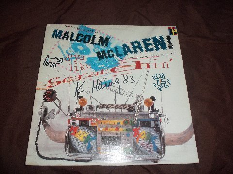 """Keith Haring Signed Malcolm Mclaren """" Scratchin """" LP"""