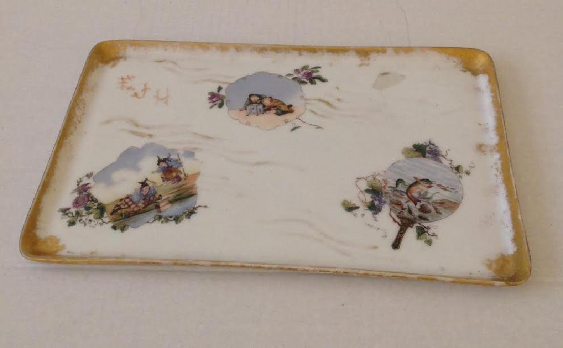 Antique Haviland Vanity Hand Painted Plate