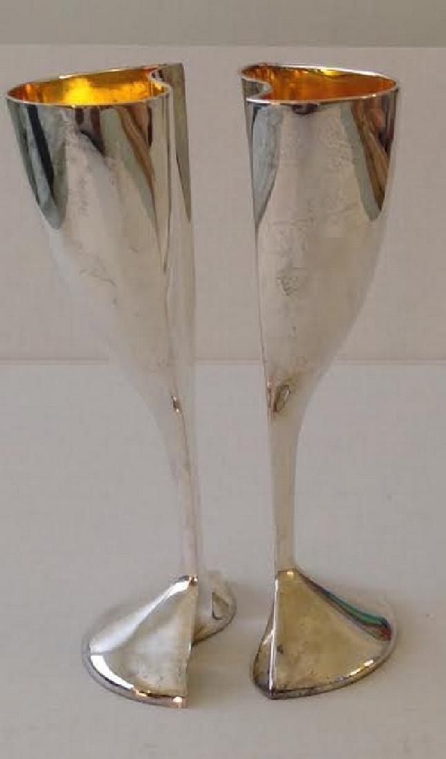 Lenox Silver Plate Kirk Stieff Wedding Goblets - 5