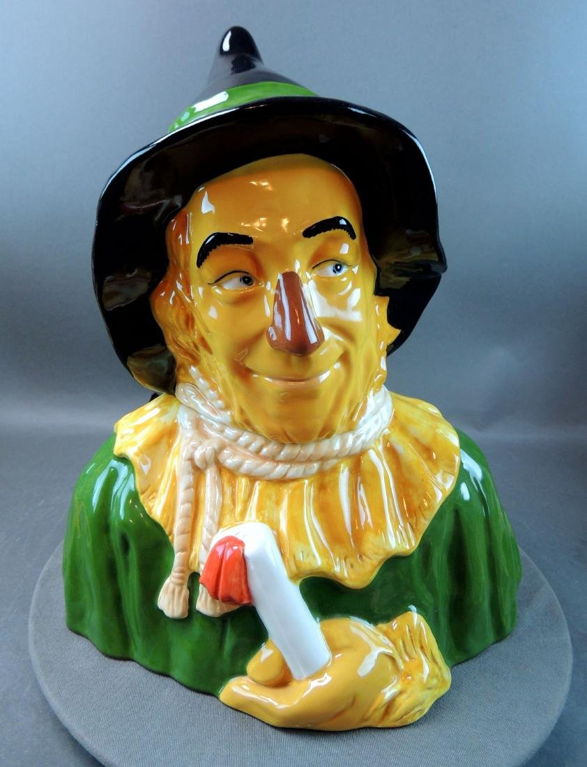 "Treasure Craft Wizard Of Oz ""Scarecrow"" Cookie Jar"