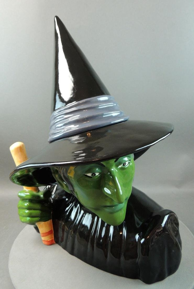 "Treasure Craft Wizard Of Oz ""Wicked Witch"" Cookie Jar - 2"