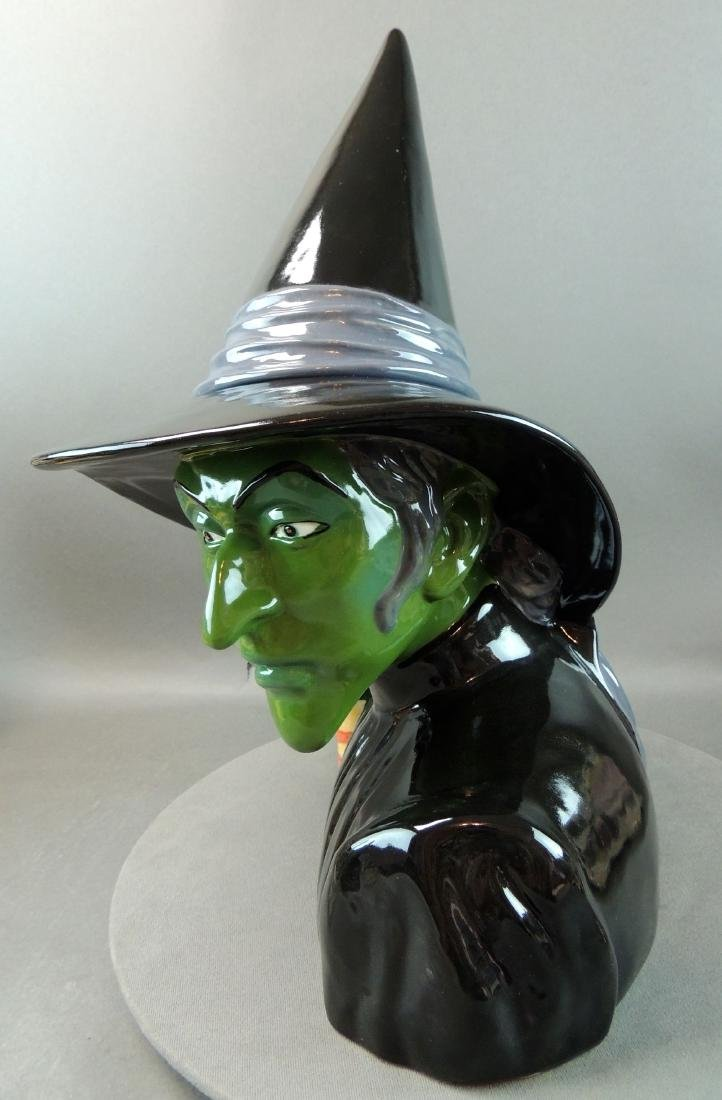 "Treasure Craft Wizard Of Oz ""Wicked Witch"" Cookie Jar - 3"
