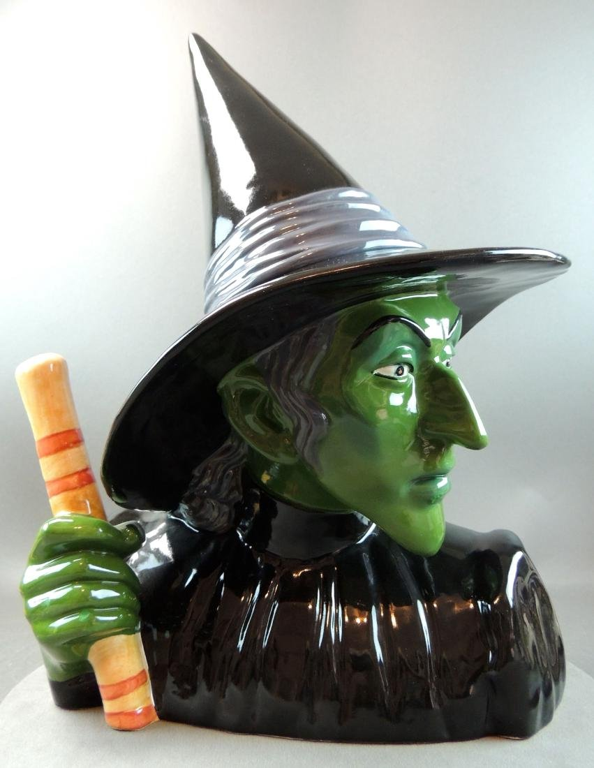 "Treasure Craft Wizard Of Oz ""Wicked Witch"" Cookie Jar - 5"