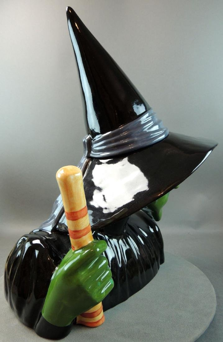 "Treasure Craft Wizard Of Oz ""Wicked Witch"" Cookie Jar - 6"