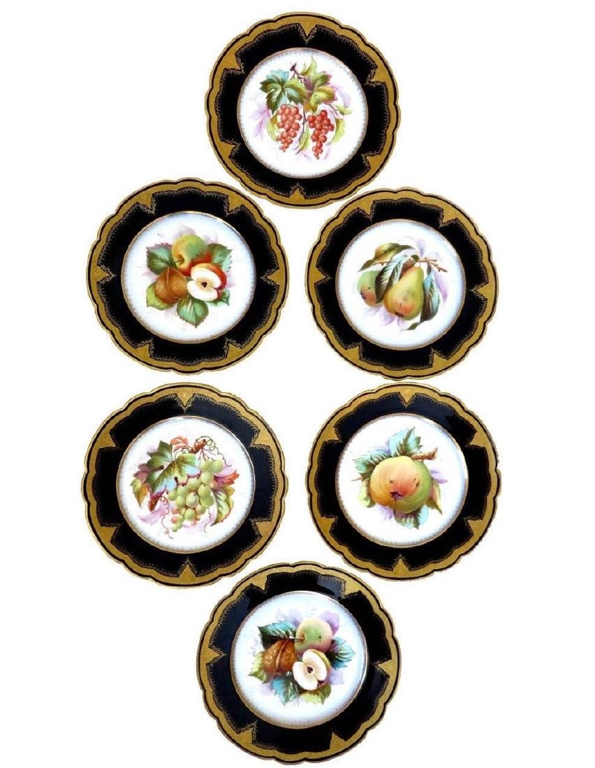 19th Century Hand Painted Varitas Vincit Plates