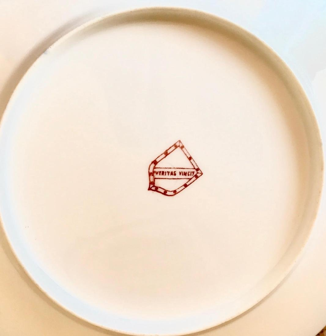 19th Century Hand Painted Varitas Vincit Plates - 2