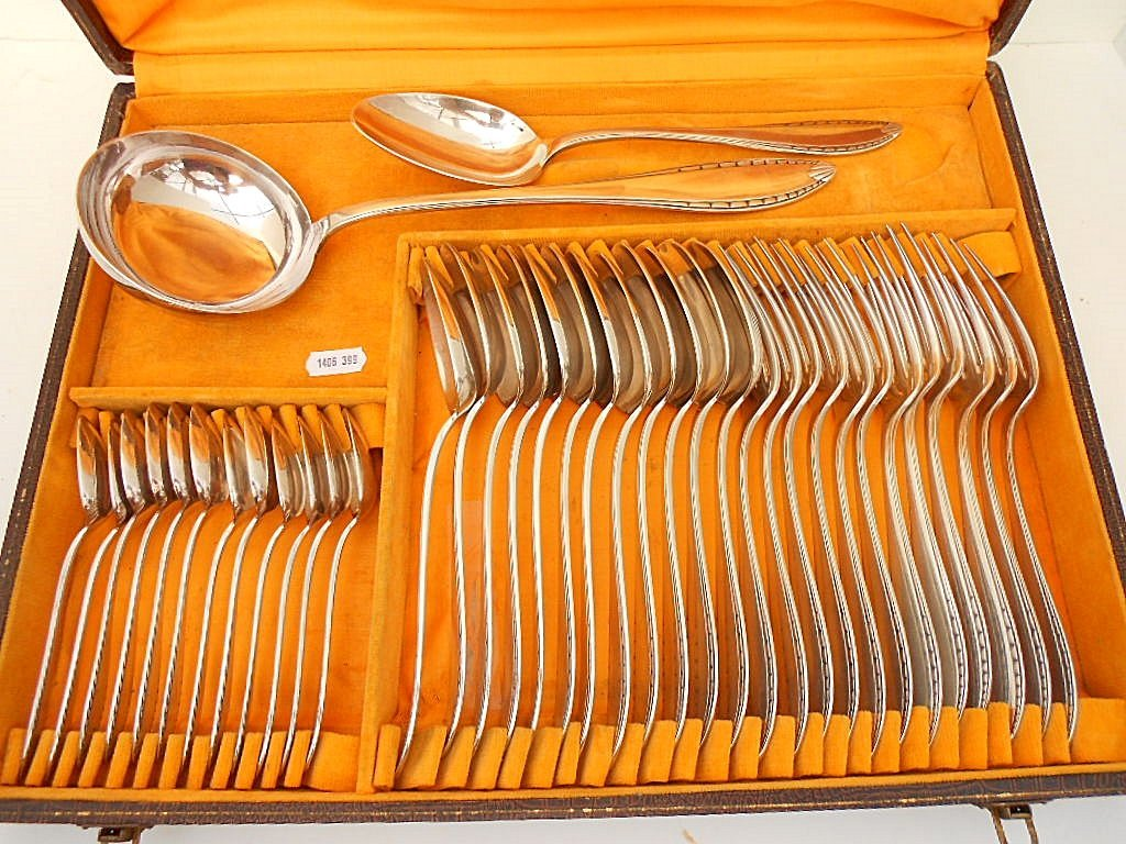 38 Piece Christofle Flatware Service for 12
