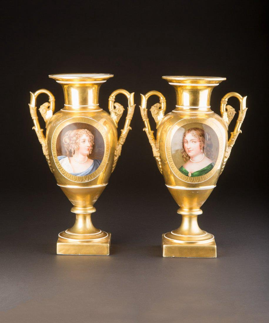 Pair of Popov Porcelain Vases