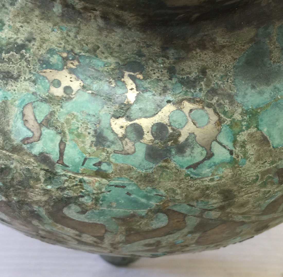 Chinese Archaic Inlaid Bronze Vessel. Han Period - 7