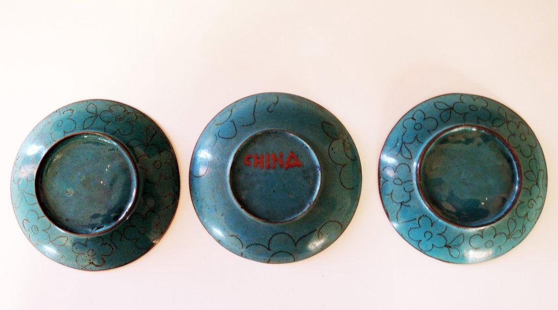 Three Chinese Cloisonne Plates - 2