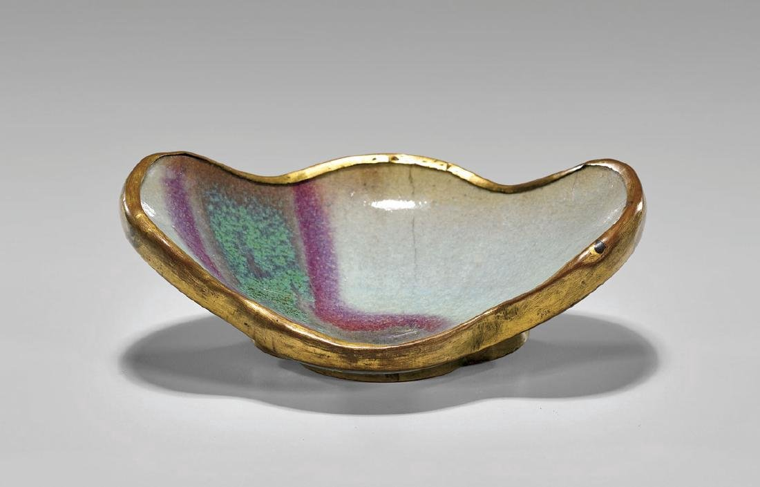 Chinese Song Dynasty Qianlong Cloisonne Junyao Fragment