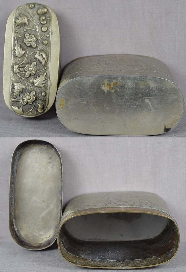 Chinese Paktong Scholar's Box 8 Immortals, 19th C - 6