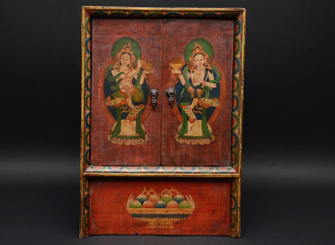 Tibetan Dancing Deity Cabinet